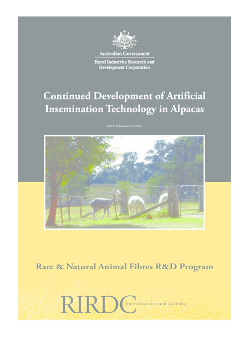 Continued Development of Artificial Insemination Technology in Alpacas - image