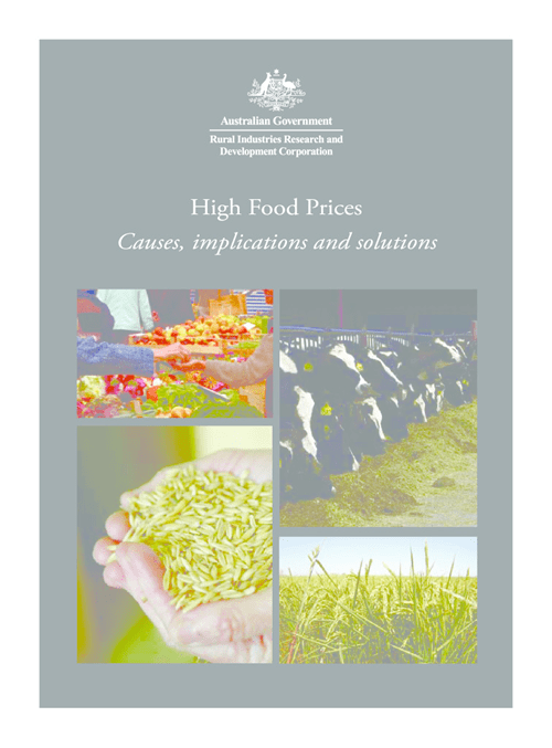 High Food Prices - Causes, implications and solutions - image