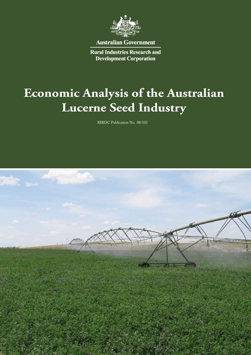 Economic Analysis of the Australian Lucerne Seed Industry - image