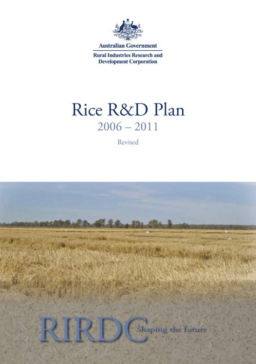 Rice Five Year R&D Plan 2006-2011 Revised - image