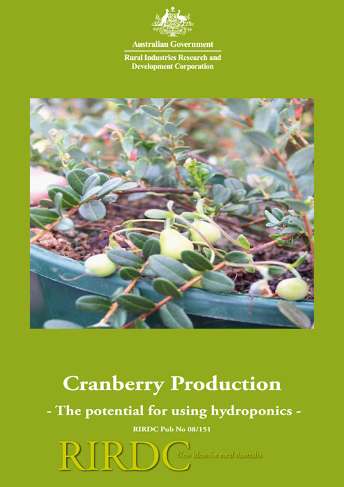 Cranberry production - the potential for using hydroponics - image