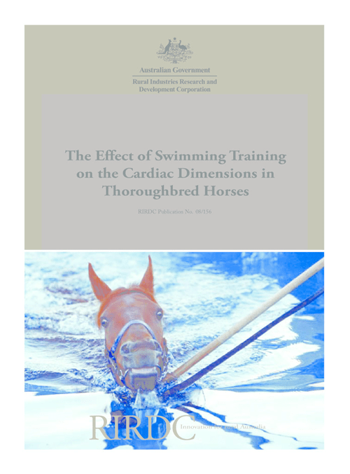 The effect of swimming training on cardiac dimensions in thoroughbreds - image