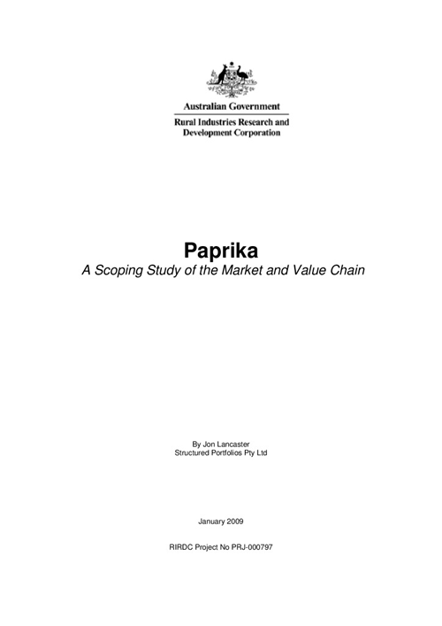 Paprika - A scoping study of the market and value chain - image