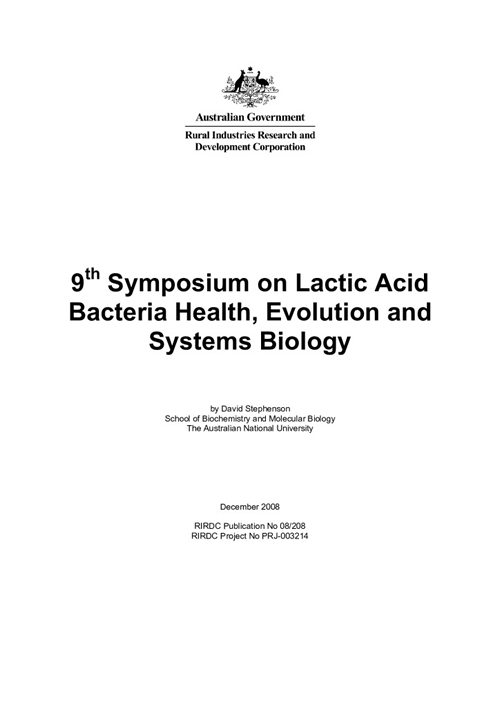9th Symposium on lactic acid bacteria health, evolution and systems biology - image