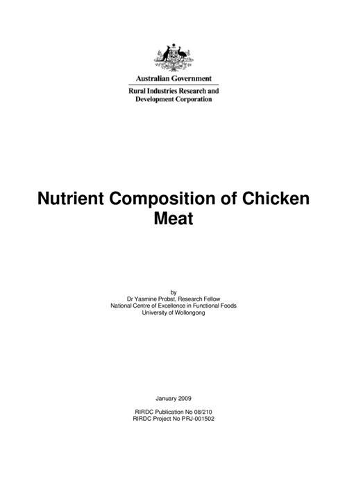 Nutrient Composition of Chicken Meat - image