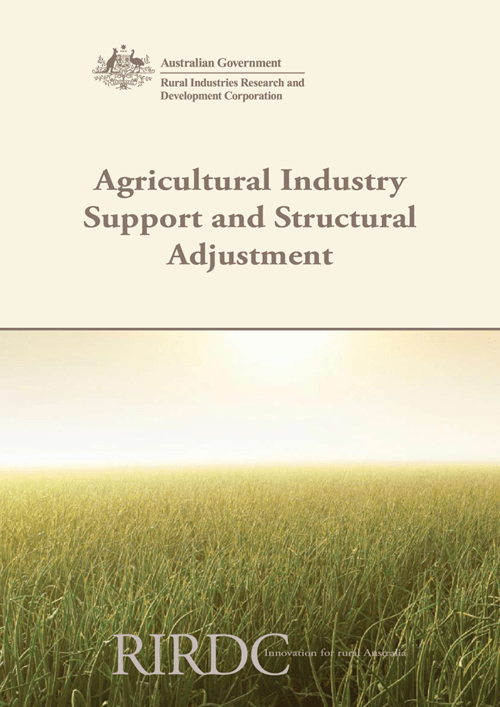 Agricultural Industry support and structural adjustment - image
