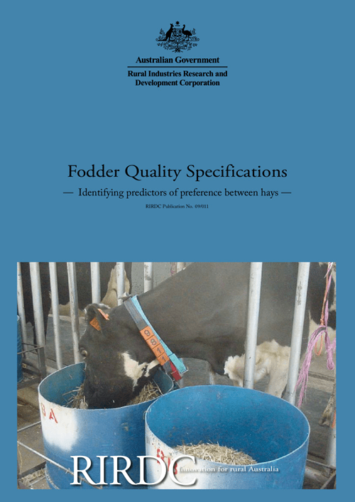 Fodder Quality Specifications – Identifying predictors of preference between hays - image