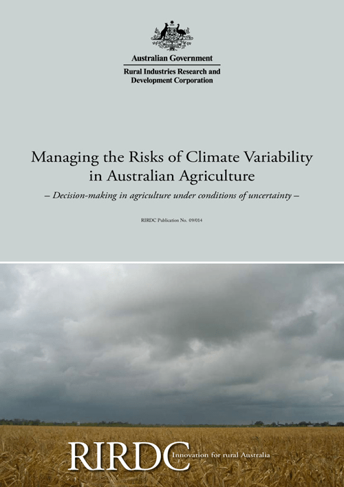 Managing the Risks of Climate Variability in Australian Agriculture -  Decision-making in agriculture under conditions of uncert - image