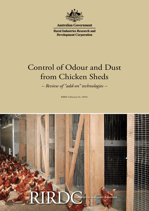 Control of Odour and Dust from Chicken Sheds - Review of