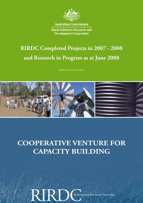 Research in Progress - Cooperative Venture for Capacity Building 2007-08 - image