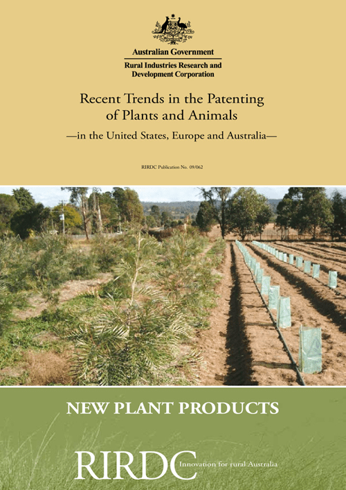 Recent Trends in the Patenting of Plants and Animals in the United States, Europe and Australia - image