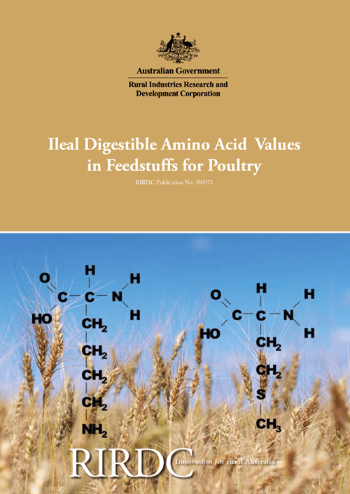 Ileal Digestible Amino Acid Values in Feedstuffs for Poultry - image