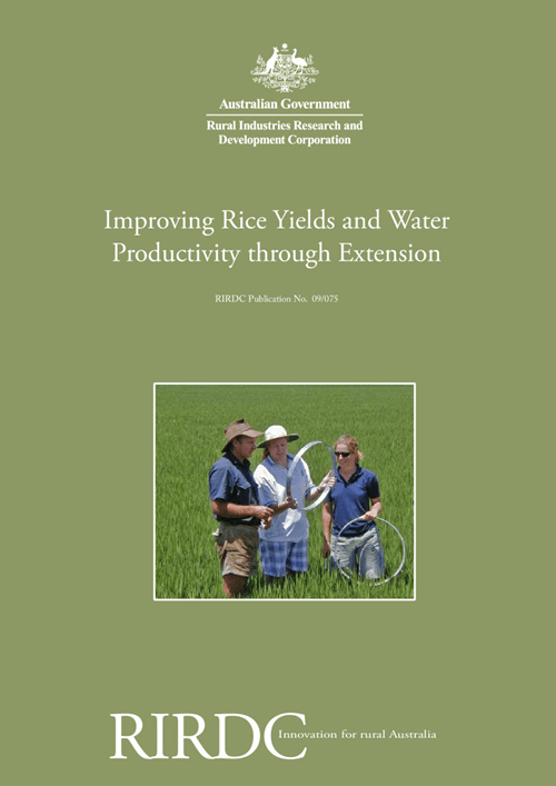 Improving Rice Yields and Water Productivity through Extension - image