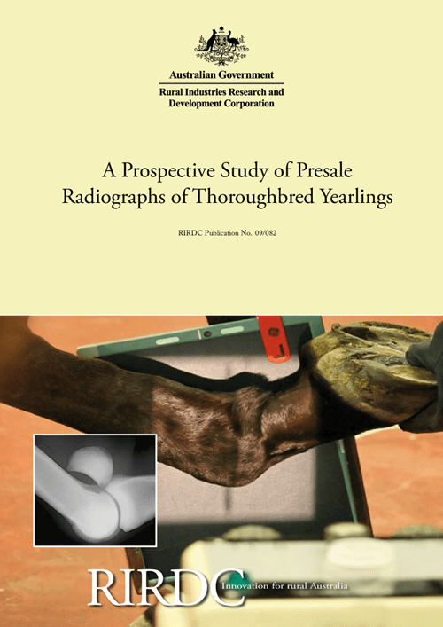 A Prospective Study of Presale Radiographs of Thoroughbred Yearlings - image