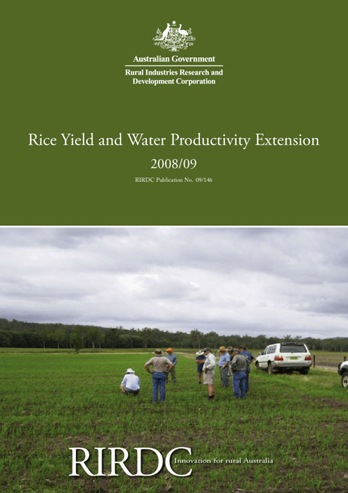 Rice Yield and Water Productivity Extension 2008/09 - image