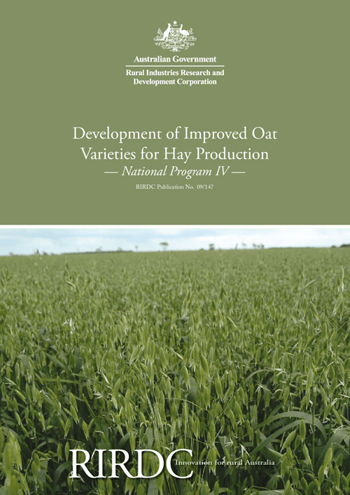 Development of Improved Oat Varieties for Hay production: National Program IV - image