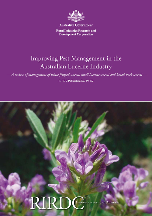 Improving Pest Management in the Australian Lucerne Industry: A review of management of white fringed weevil, small lucerne weevil and broad-back weevil - image