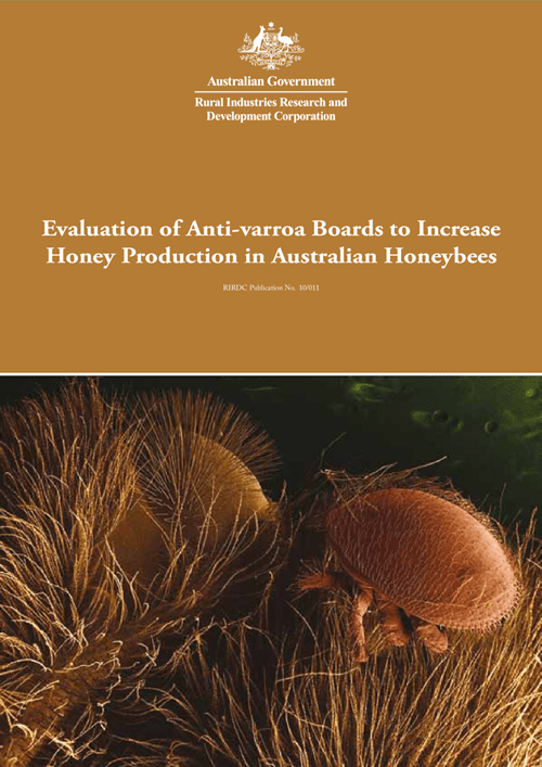 Evaluation of Anti-varroa Boards to Increase Honey Production in Australian Honeybees - image