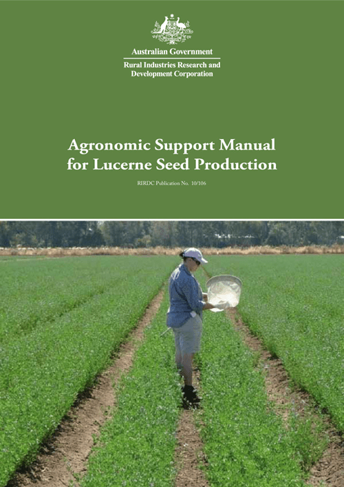 Agronomic Support Manual for Lucerne Seed Production - image