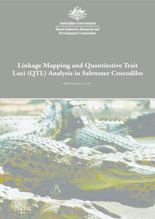 Linkage Mapping and Quantitative Trait Loci (QTL) Analysis in Saltwater Crocodiles - image