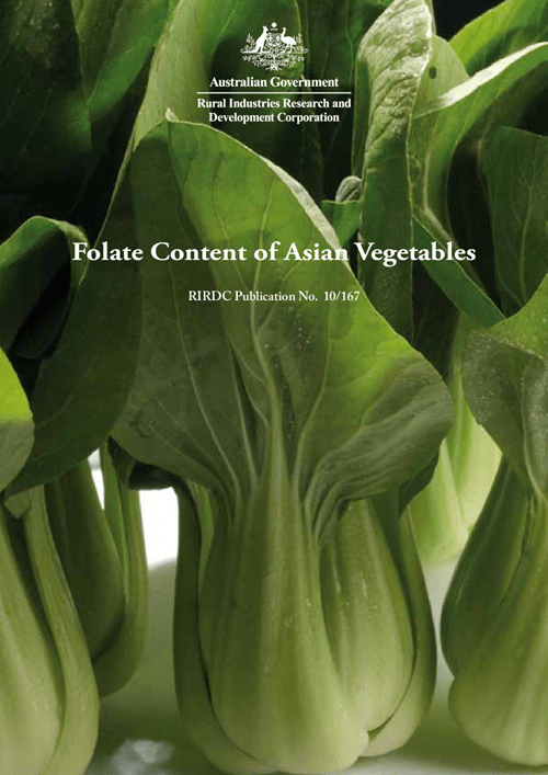 Folate Content of Asian Vegetables - image
