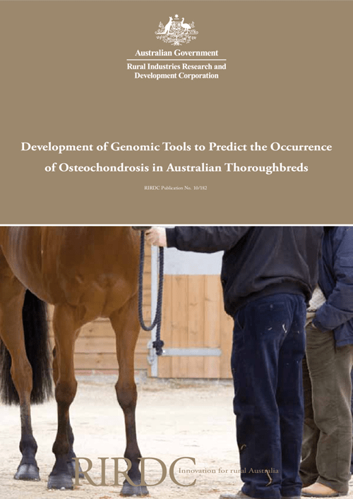 Development of Genomic Tools to Predict the Occurrence of Osteochondrosis in Australian Thoroughbreds - image