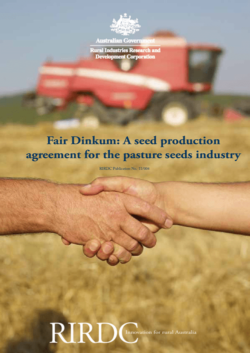 Fair Dinkum: A seed production agreement for the pasture seeds industry - image