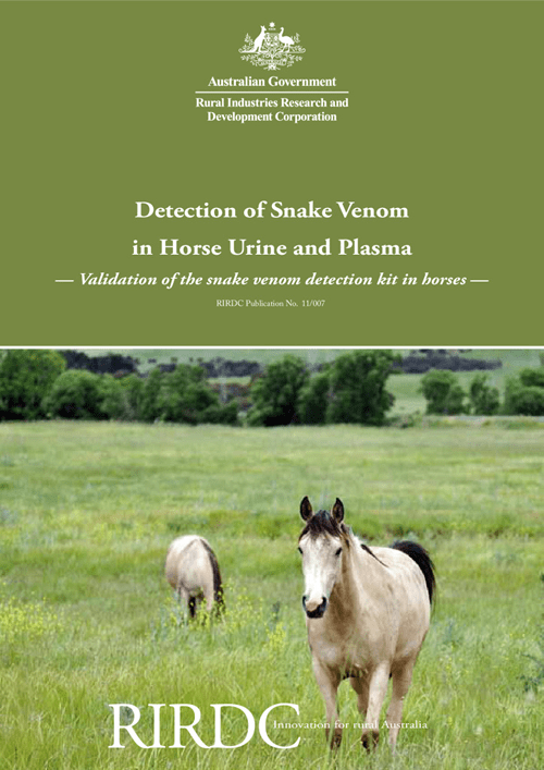 Detection of Snake Venom in Horse Urine and Plasma: Validation of the snake venom detection kit in horses - image