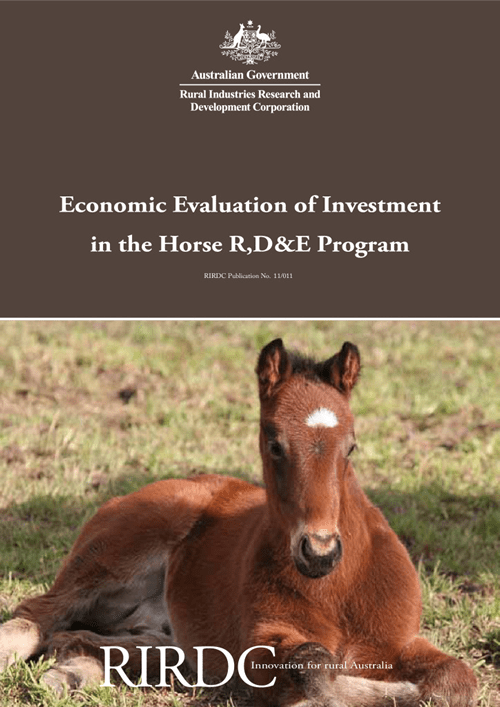 Economic Evaluation of Investment in the Horse R, D&E Program - image
