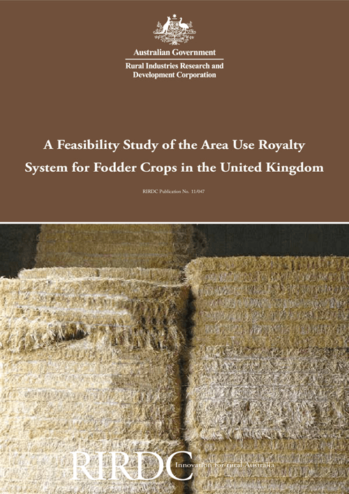 A Feasibility Study of the Area Use Royalty System for Fodder Crops in the United Kingdom - image