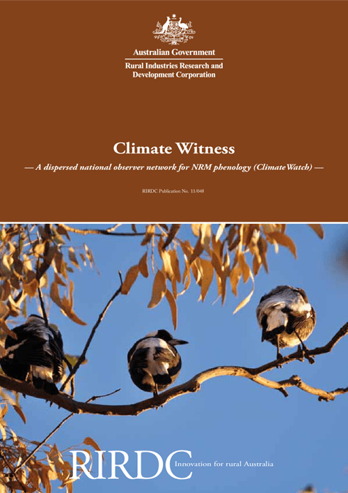 Climate Witness: A dispersed national observer network for NRM phenology (ClimateWatch) - image