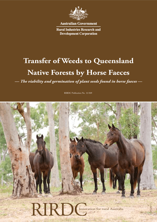 Transfer of Weeds to Queensland Native Forests by Horse Faeces - image