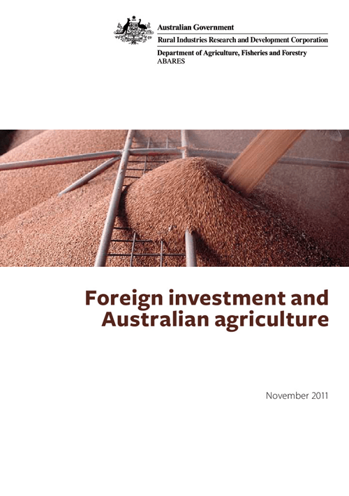 Foreign Investment and Australian Agriculture - image