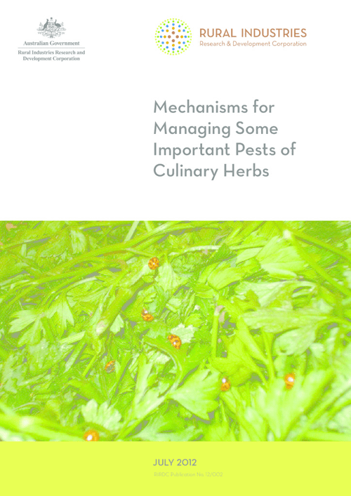 Mechanisms for Managing some Important Pests of Culinary Herbs - image