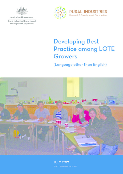 Developing Best Practice among LOTE Growers (Language other than English) - image