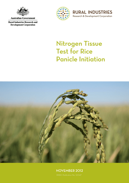 Nitrogen Tissue Test for Rice Panicle Initiation - image