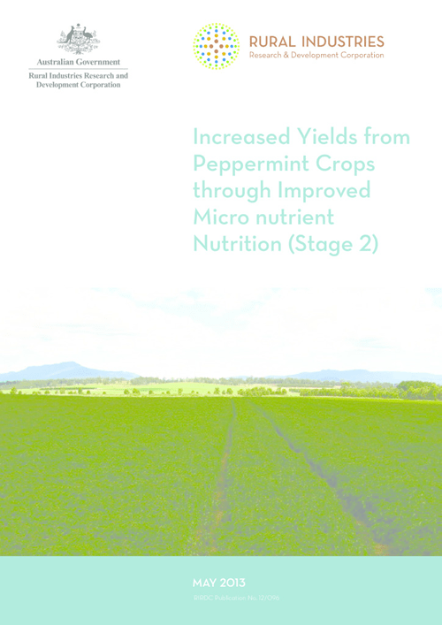 Increased Yields from Peppermint Crops through Improved Micro nutrient Nutrition (Stage 2) - image