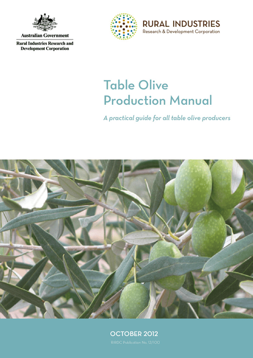 Table Olive Production Manual - image