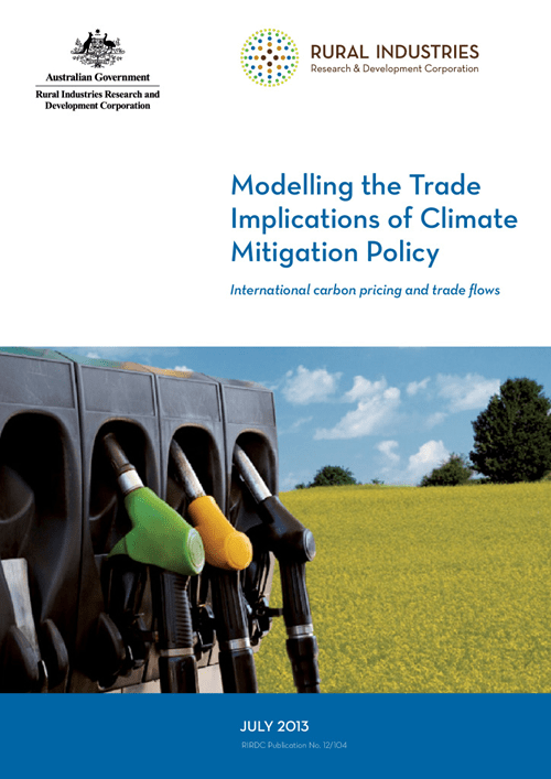 Modelling the Trade Implications of Climate Mitigation Policy -  International carbon pricing and trade flows - image