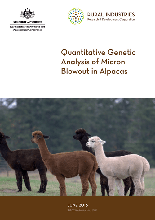 Quantitative Genetic Analysis of Micron Blowout in Alpacas - image