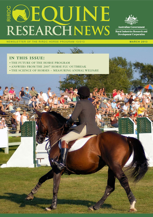 Equine Research News March 2013 - image