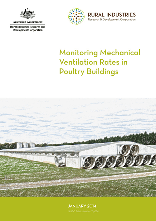 Monitoring mechanical ventilation rates in poultry buildings - image