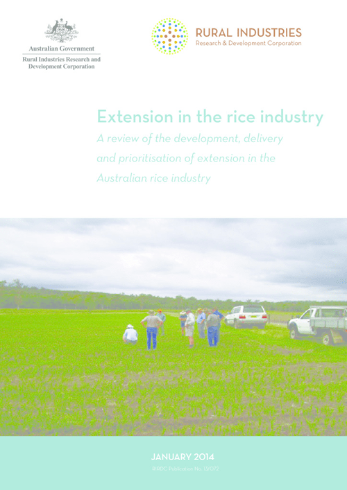 Extension in the rice industry - image