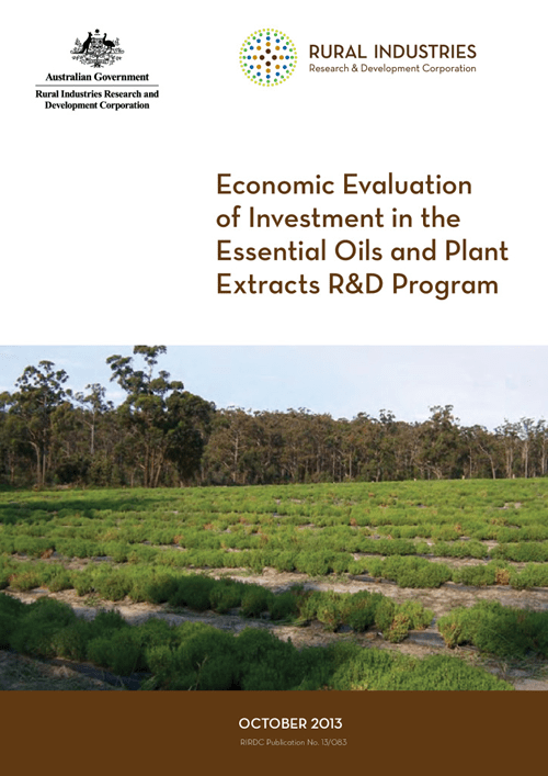 Economic Evaluation of Investment in the Essential Oils and Plant Extracts R&D Program - image