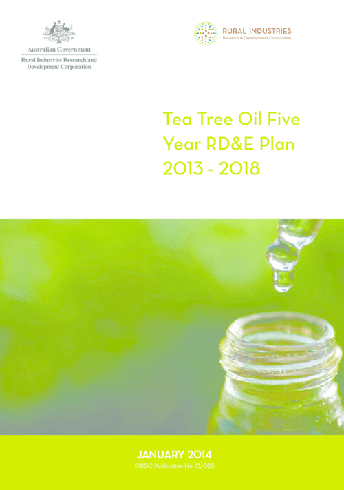 Tea Tree Oil Five Year RD&E Plan 2013 - 2018 - image