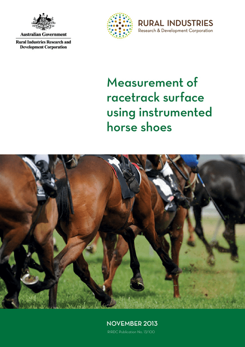 Measurement of racetrack surface using instrumented horse shoes - image