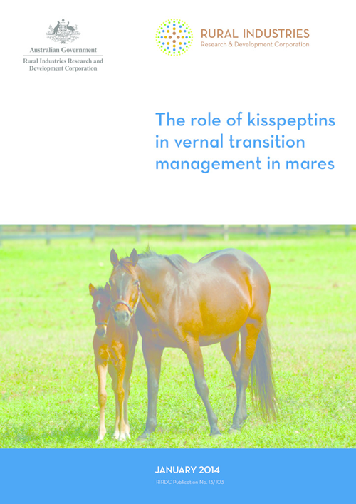 The role of kisspeptins in vernal transition management in mares - image