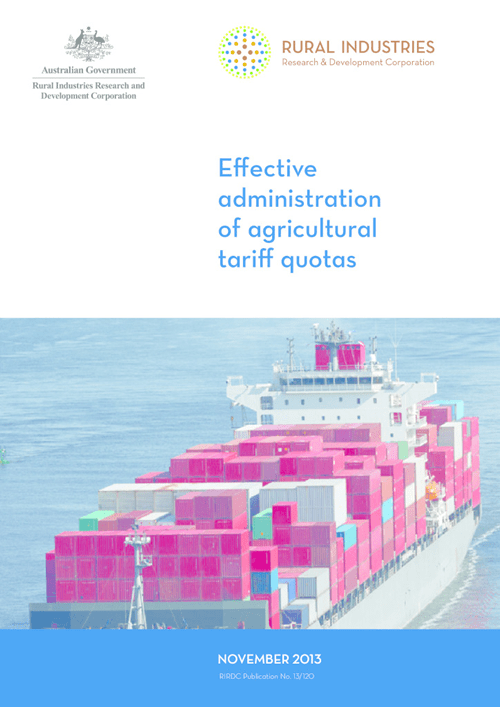 Effective administration of agricultural tariff quotas - image