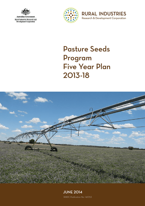 Pasture Seeds R&D Program Five Year R&D Plan 2013-2018 - image