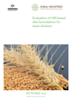 Evaluation of NIR-based diet formulations for meat chickens - image